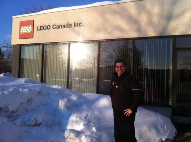 LEGO Community Team member Kevin Hinkle at the office of LEGO Canada, Inc.