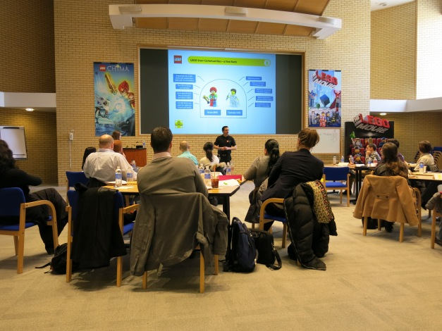 LEGO Community team member Kevin Hinkle presenting the AFOL Community to new LEGO employees in Enfield, CT; USA.