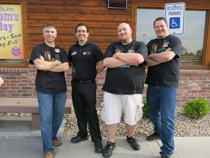 CEE representative Kevin Hinkle with BrickSlopes owners Brian, Cody and Stephen.
