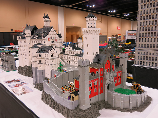 A European castle as built by a Brickworld Chicago attendee.