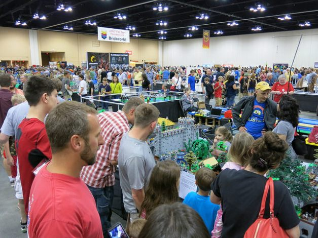 The public visitors at Brickworld Chicago 2014.