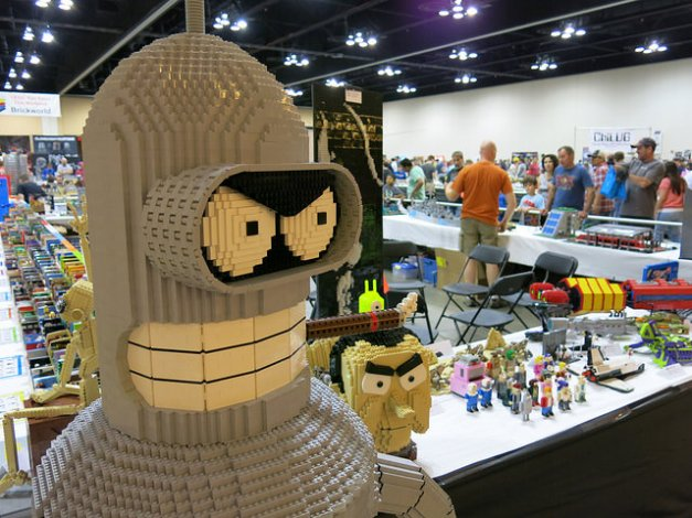 Bender Bending Rodriguez as built by an AFOL.
