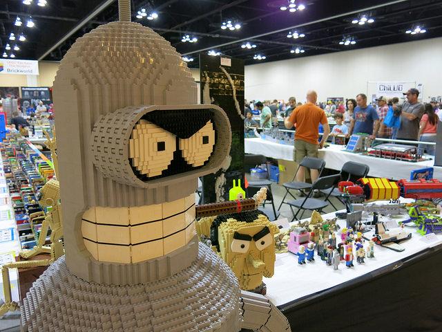 Bender Bending Rodriguez as built by an AFOL.