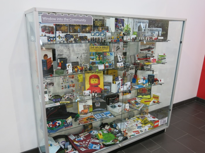 The CEE display case located at The LEGO Group's corporate office in Enfield, CT; USA.