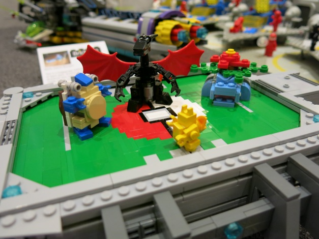 A Pokémon Stadium as built by a Brickfête Toronto attendee.